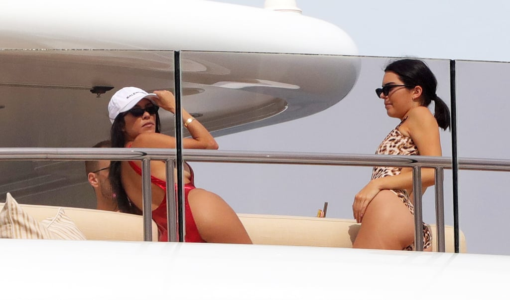 Kourtney Kardashian and Kendall Jenner were living it up in the South of France for the Cannes Film Festival, and the sisters got in some swimsuit time while relaxing on a yacht in Antibes; the pair was spotted lounging and chatting in one-pieces with friend Simon Huck. The next day, they kept the fun coming on by donning their best nautical wear for a day on the water. On Sunday, Kourtney attended a dinner in celebration of Jean-Michel Cousteau's Wonders of the Sea, while Kendall stomped the runway for Naomi Campbell's annual Fashion For Relief event, which also brought out Kate Moss, Heidi Klum, and Kendall's pal Bella Hadid. Keep reading to see all the photos from Kourtney and Kendall's Cannes adventures.       Related:                                                                                                           The Most Fun Celebrity Cannes-dids From the South of France
