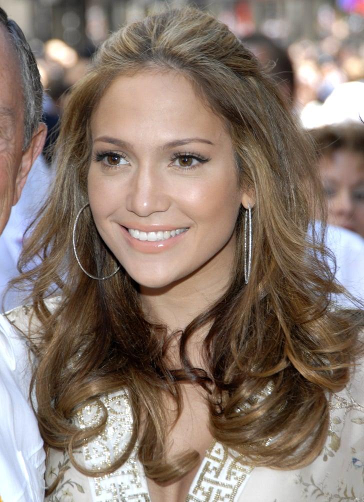 Jennifer Lopez With Subtle Caramel Highlights In 2006
