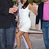 Eva Longoria went into the Hotel Martinez.