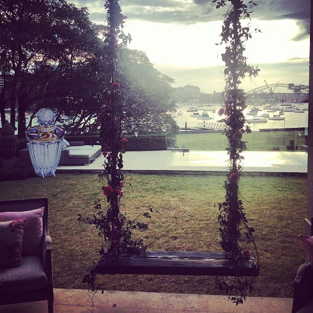 The beautiful setting in Darling Point — this is where Alison joined other beauty editors in welcoming Taylor Swift's Wanderlust into the fragrance fold.
