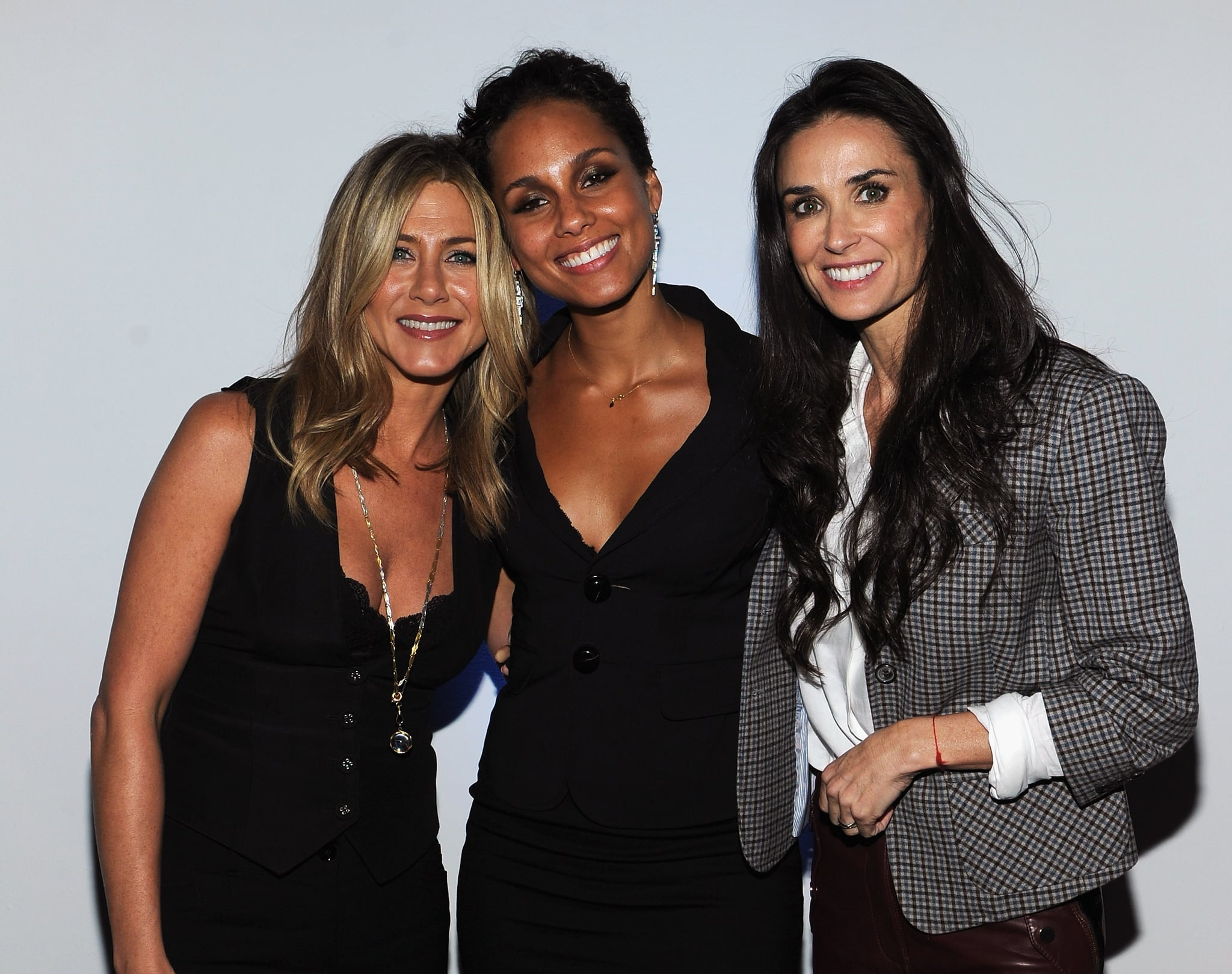 Alicia Smiles jennifer was all smiles while hanging with alicia keys and
