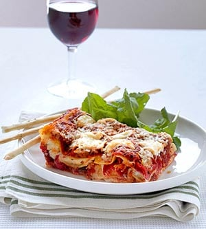 Vegetarian Roasted Red Pepper Lasagna Recipe