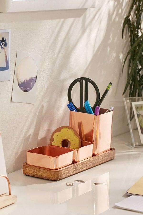 Urban Outfitters Copper Trio Desk Organizer ($39)