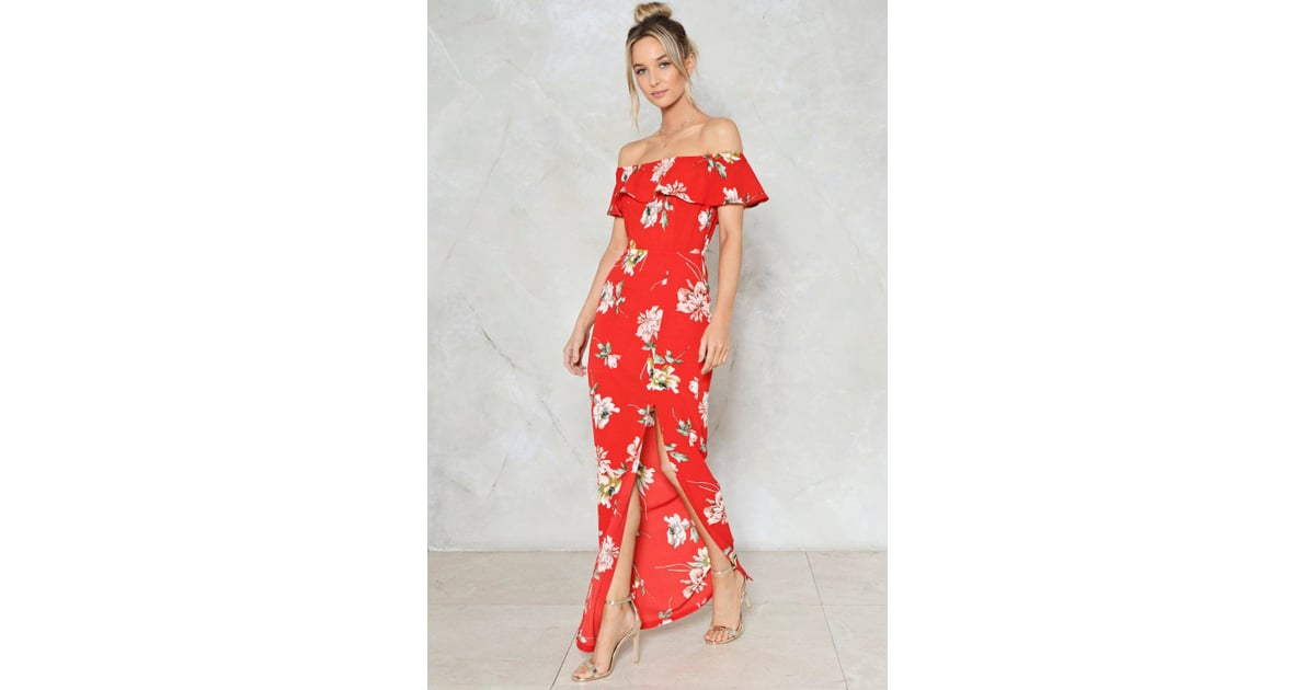 5fb2893800 Nasty Gal Like a Flower Floral Dress