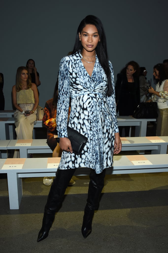 Chanel Iman at the Elie Tahari New York Fashion Week Show