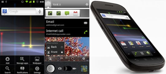 Google Android Gingerbread and Nexus S Details