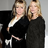 Kate Moss said hello to Jo Wood.