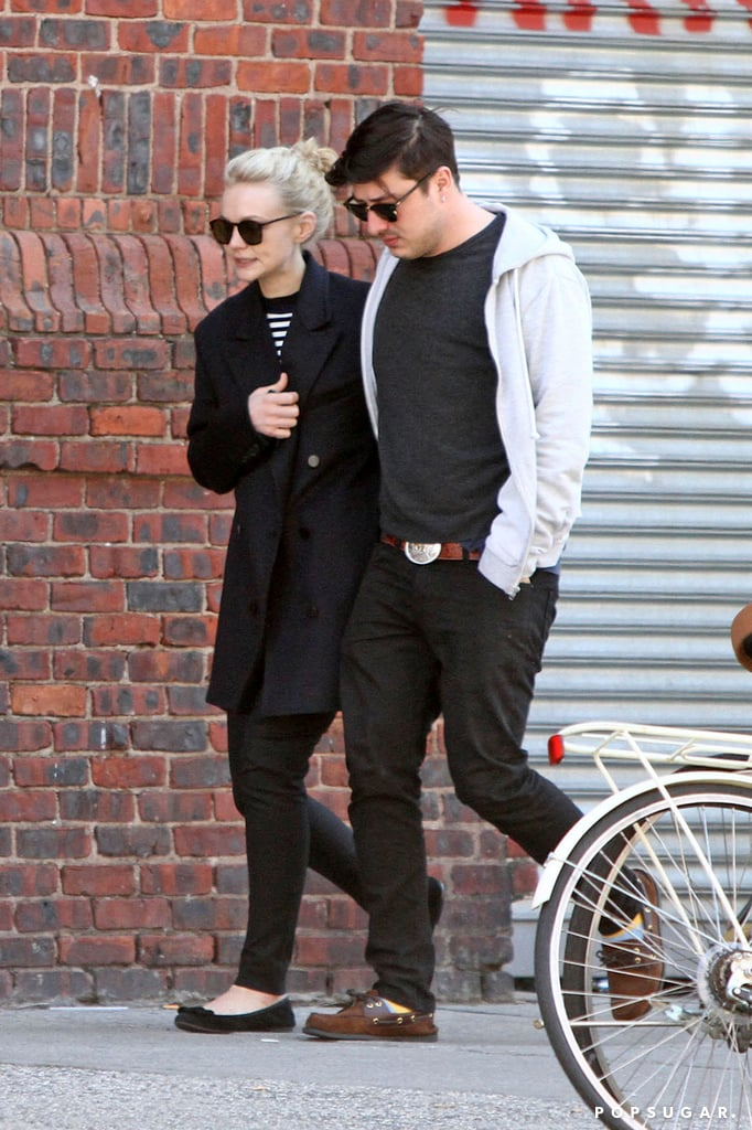 Carey Mulligan went for a city stroll with Marcus Mumford.