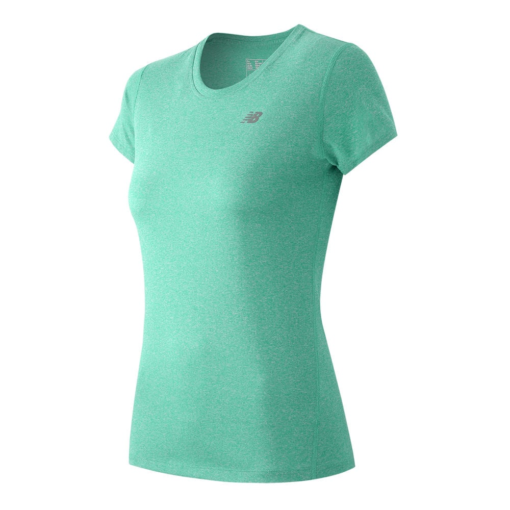 New Balance Women's Heather Short-Sleeved Tee