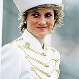 Diana looked incredibly chic when she stopped by the Sandhurst Military Academy in England in 1987.