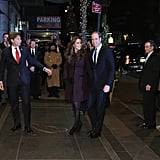 They Gave Off Festive Vibes as They Made Their Way Into the Carlyle Hotel