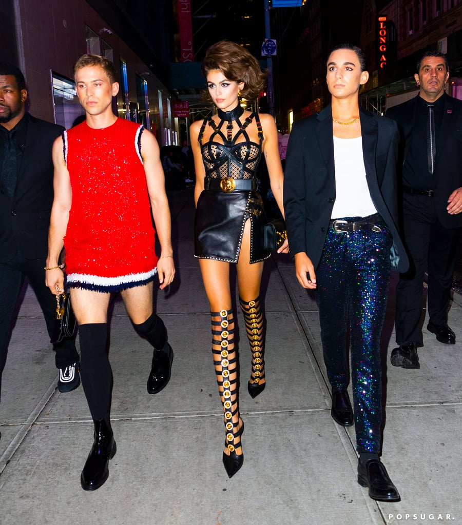 "Happy birthday, Kaia Gerber! On Friday night, the model — who turned 18 on Sept. 3 — celebrated her official debut into adulthood with a celebrity-filled NYC party at the Paradise Club. The soirée was hosted by Kaia's parents, Cindy Crawford and Rande Gerber, while stars such as Leonardo DiCaprio, Kendall Jenner, Camila Morrone, and G-Eazy enjoyed the '80s- and '90s-themed disco bash. Meanwhile, Kaia paid homage to her mom by rocking a Versace dress similar to Cindy's ensemble at the 1992 VMAs. And making the night even more special was singer and fellow model Amanda Lepore, who serenaded the woman of the hour with a ""Happy Birthday"" performance. Ahead, check out some of the fun snaps from the get-together!      Related:                                                                                                           23 Photos of Cindy Crawford and Kaia Gerber That Show They're Cut From the Same Cloth"