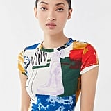 UO When In Rome Printed Ribbed Cropped Top