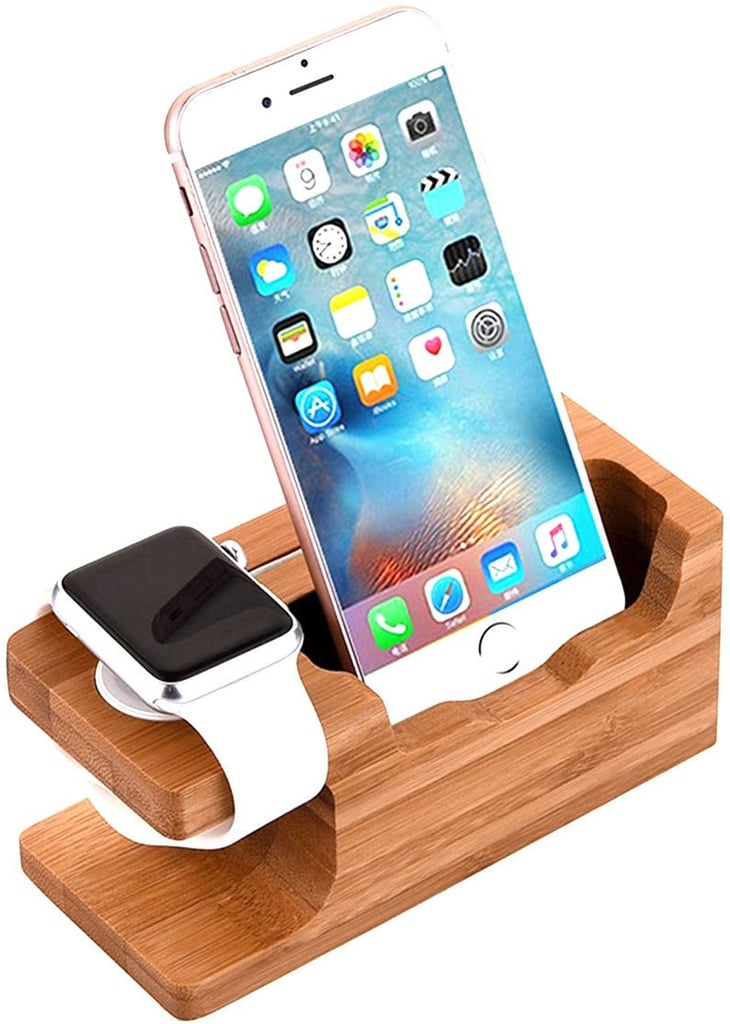 AICase Bamboo Wood Charging Dock