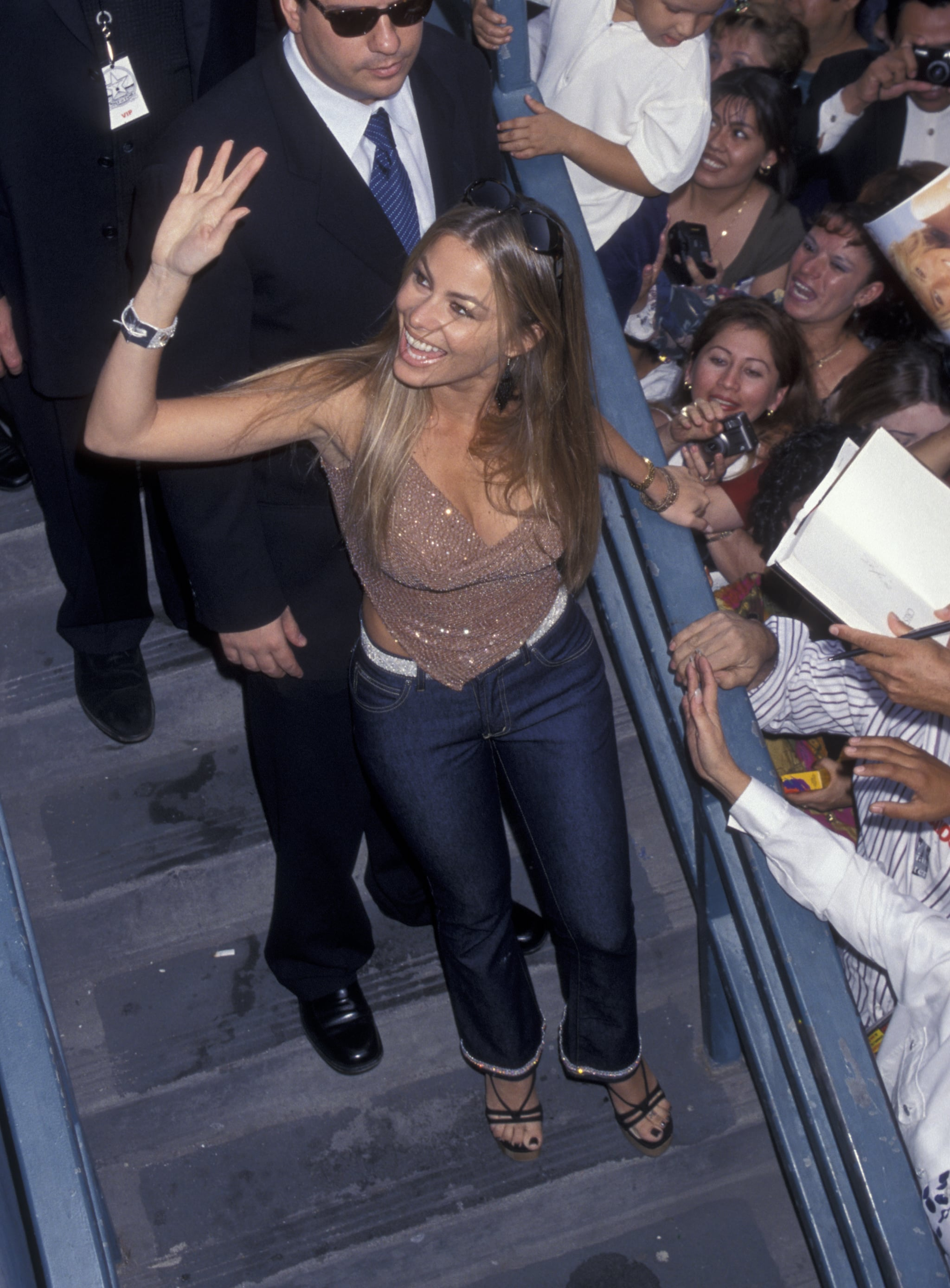 HOLLYWOOD, CA - NOVEMBER 4:  Sofia Vergara attends Walk of Fame Star Ceremony Honoring Cristina Saralegui  on November 4, 1999 at Hollywood Boulevard in Hollywood, California. (Photo by Ron Galella, Ltd./Ron Galella Collection via Getty Images)