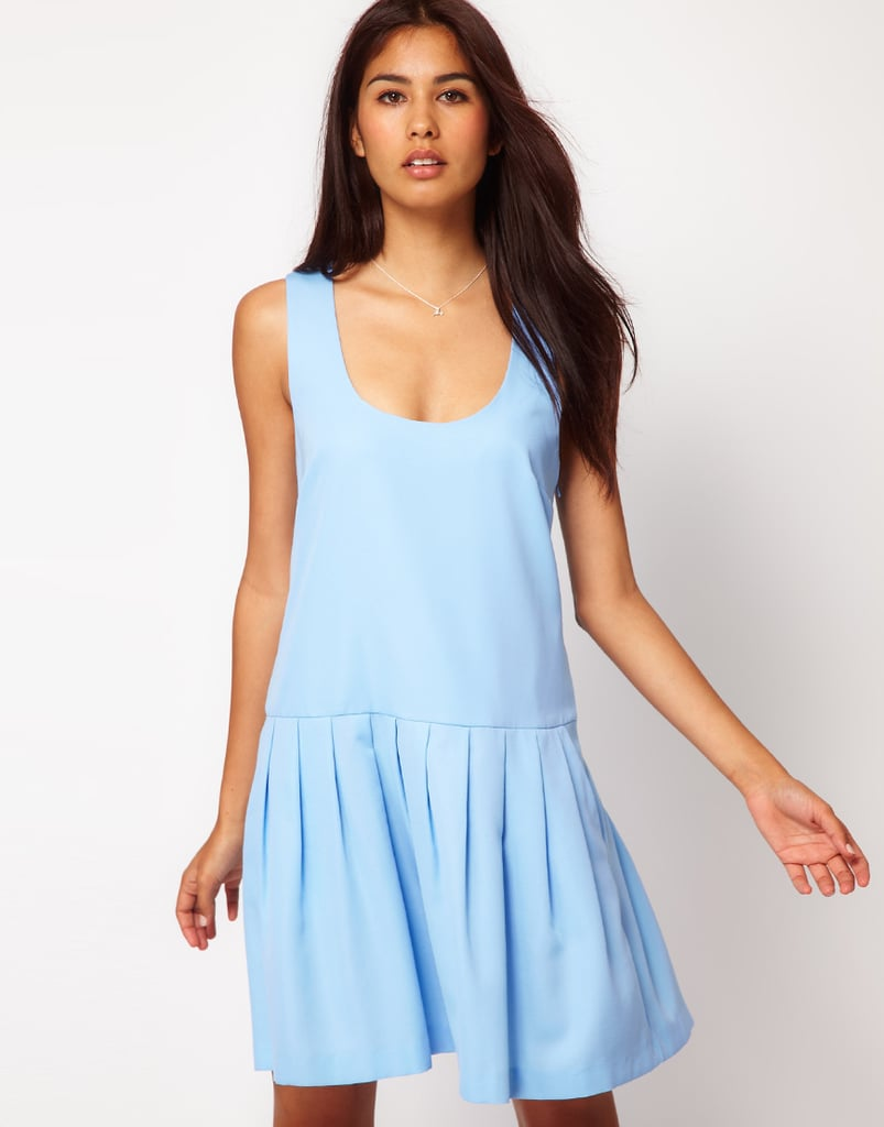 Supercasual but in the prettiest shade of icy blue — this drop-waist shiftdress is an easy option for chic weekend adventures. Style the dress with a pair of high-top Chucks and you're good to go. ASOS Bell Skirt Dress With Pockets ($32, originally $46)