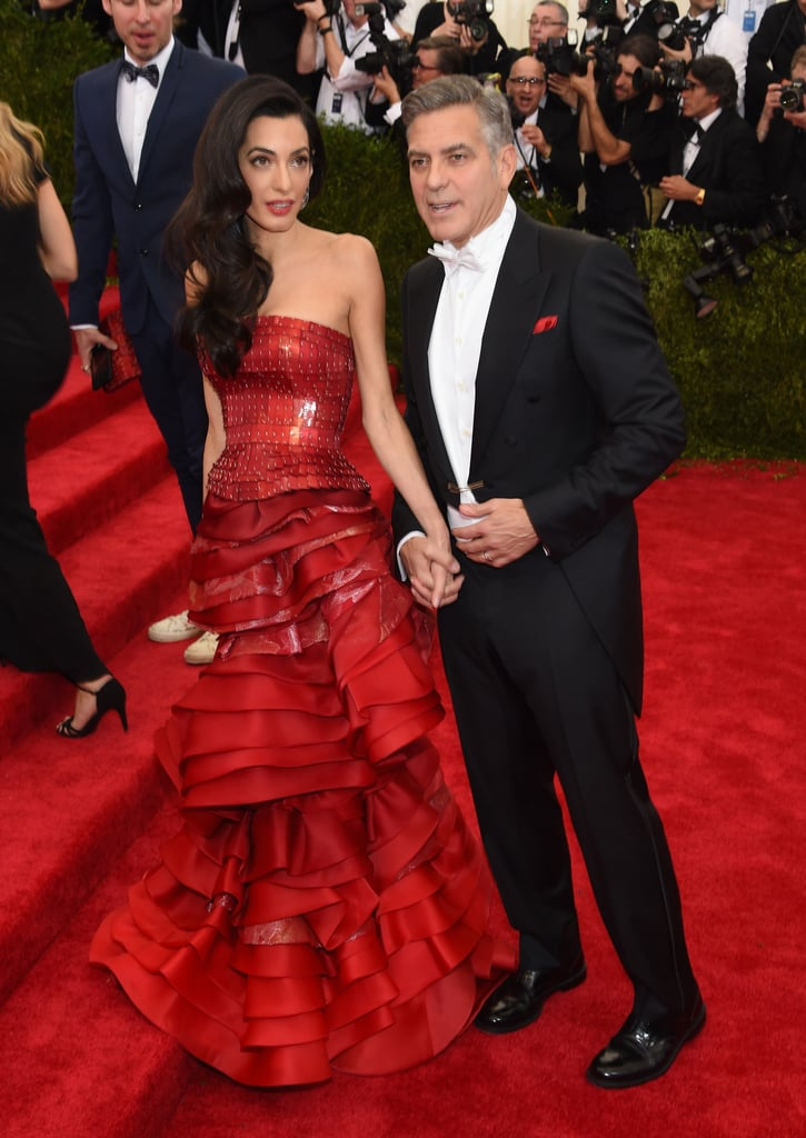 Amal and George Clooney at the Met Gala 2015
