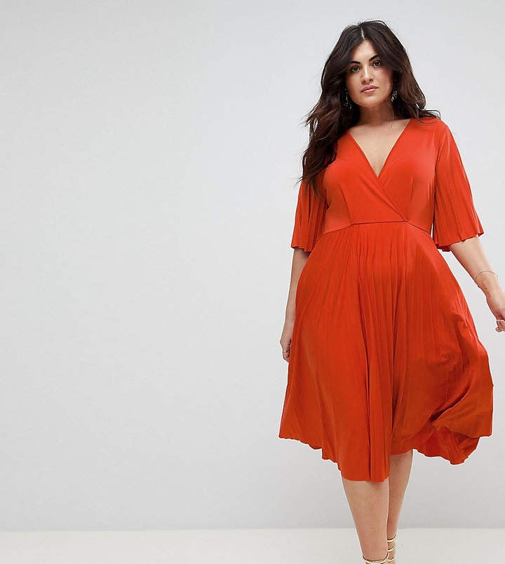 Asos Pleated Kimono Dress in Slinky