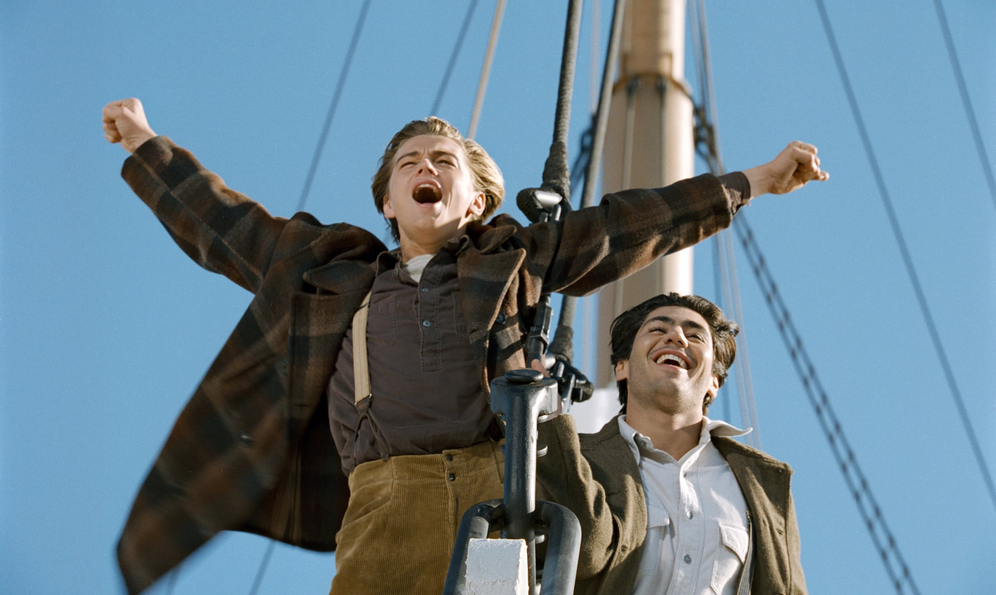 TITANIC, from left: Leonardo DiCaprio, Danny Nucci, 1997. TM & Copyright 20th Century Fox Film Corp. All rights reserved./Courtesy Everett Collection