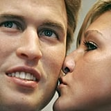 Prince William got a kiss from a fan — too bad for her it was only his wax figure.