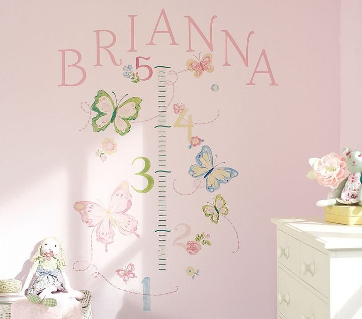 Pottery Barn Kids Butterfly Growth Chart Decal