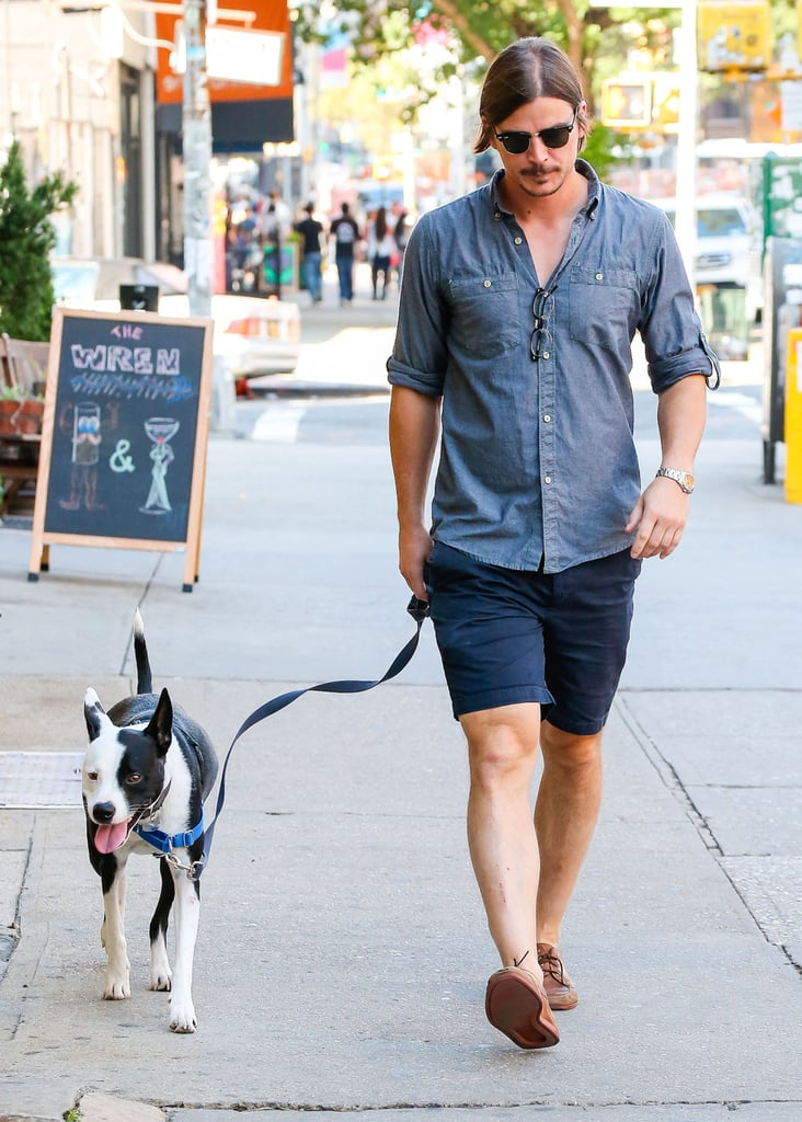 Josh Hartnett took his cute dog for a walk in NYC on Tuesday.