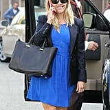 Reese Witherspoon Wearing a Blue Dress in LA