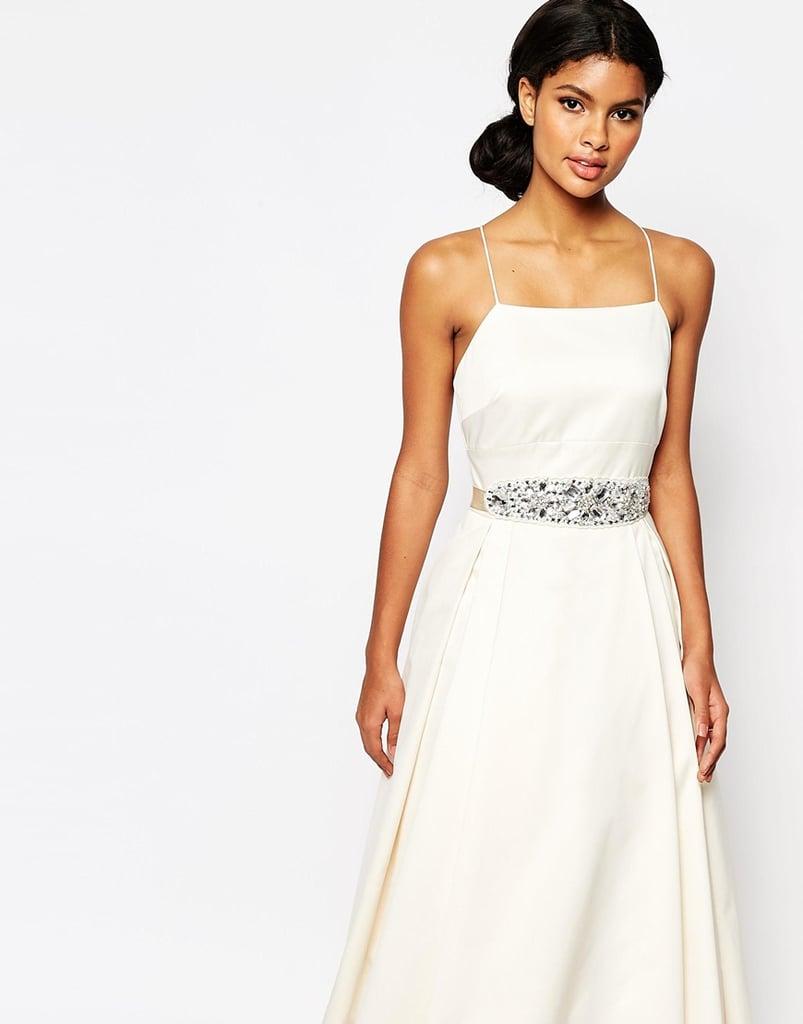 Asos Bridal Large Jewel Embellished Sash Belt ($37)