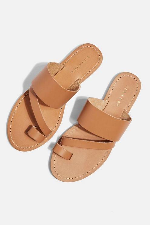 Topshop Honey Tan Flat Sandals