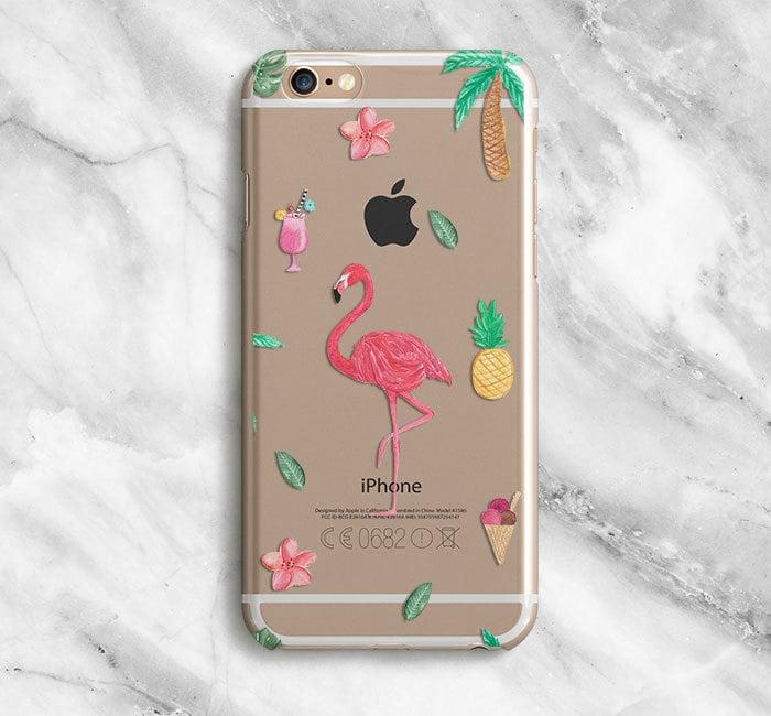 Clear Flamingo iPhone Case ($23)