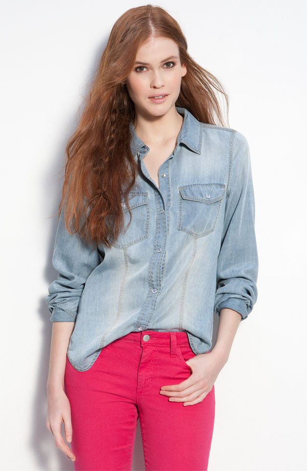 "So what are some quintessential Kate Bosworth pieces? ""A denim shirt. It's a classic piece I really love,"" the actress and designer told us.   Trouvé faded denim shirt ($88)"