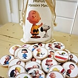 Peanuts-Inspired Wooden Memory Match Game