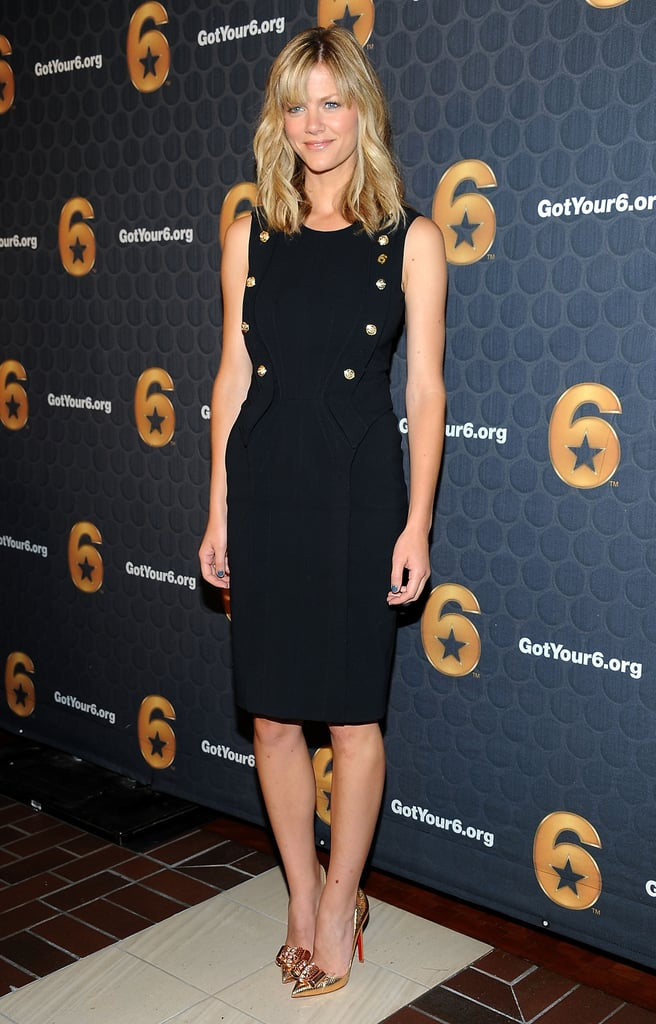 Brooklyn Decker in Black Sheath at 2012 Got Your 6 Press Conference