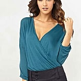 Soft, flattering, and versatile — what else could you ask for?  Eugenia Wrap Drape Top ($25 to $27)