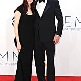Bill Paxton — nominated for his role in Hatfields & McCoys — walked the red carpet with his wife, Louise Newbury.