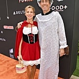 Jerry and Jessica Seinfeld as Little Red Riding Hood and the Big Bad Wolf