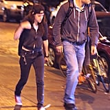 Kristen Stewart Shows Off Her Belly Button as She Heads to NYC