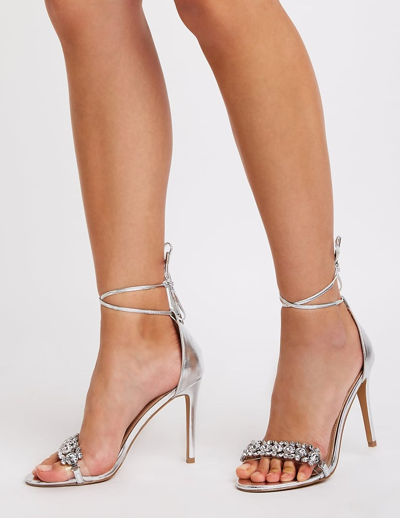 6ff74dd791 Charlotte Russe Crystal Ankle Strap Sandals | Miley Cyrus Wearing a ...