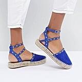 9b0089f15 Soludos Flame-Embroidered Denim Espadrille Slides   Best Shoes For ...