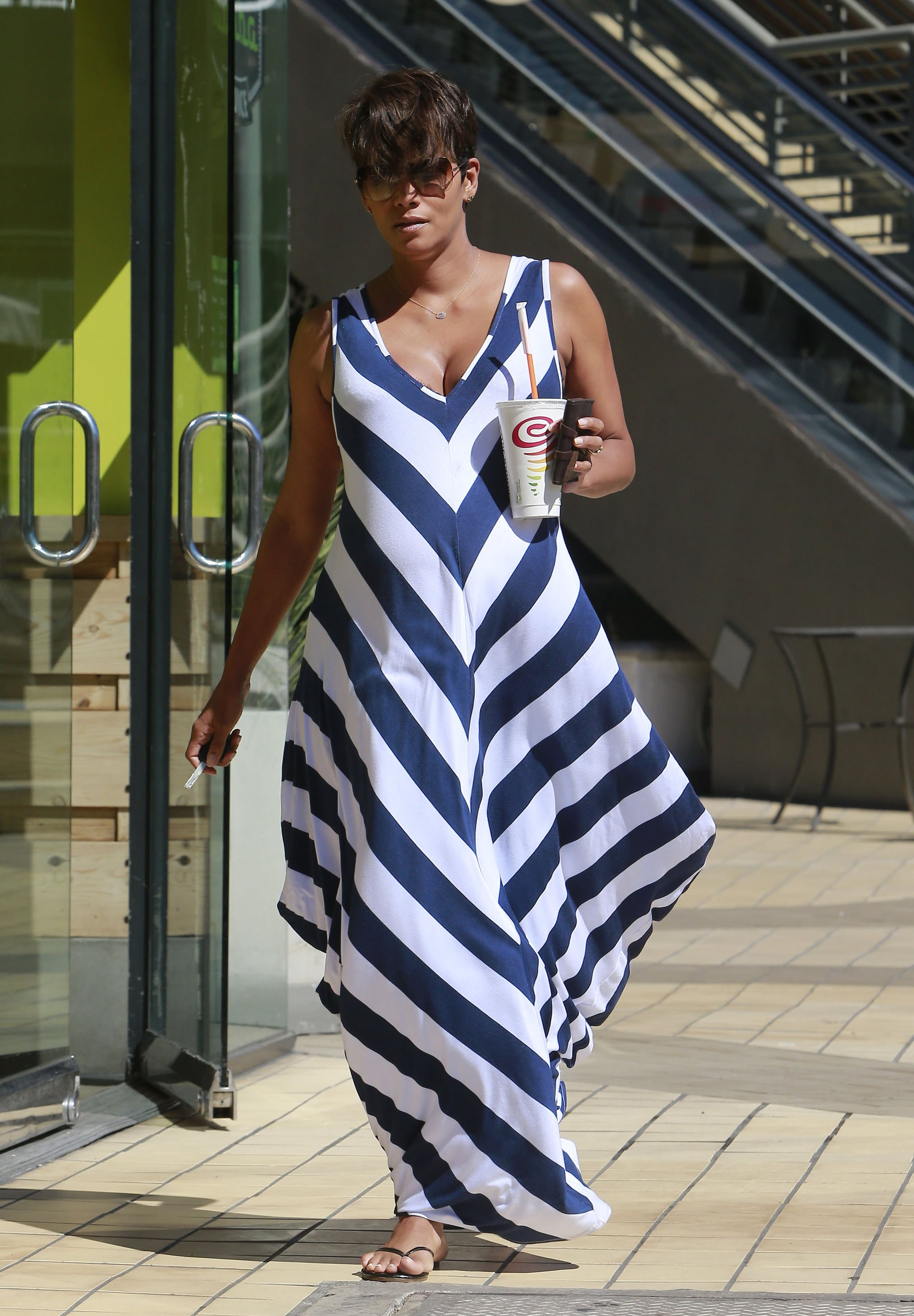 Halle Berry wore a Hatch Collection dress in LA.