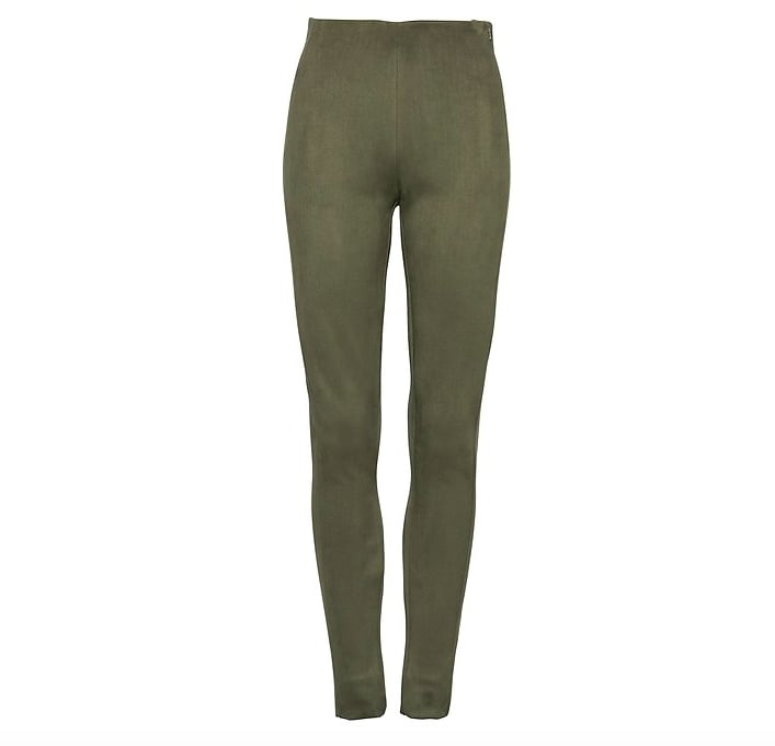 Devon Legging-Fit Vegan Stretch-Suede Ankle Pant