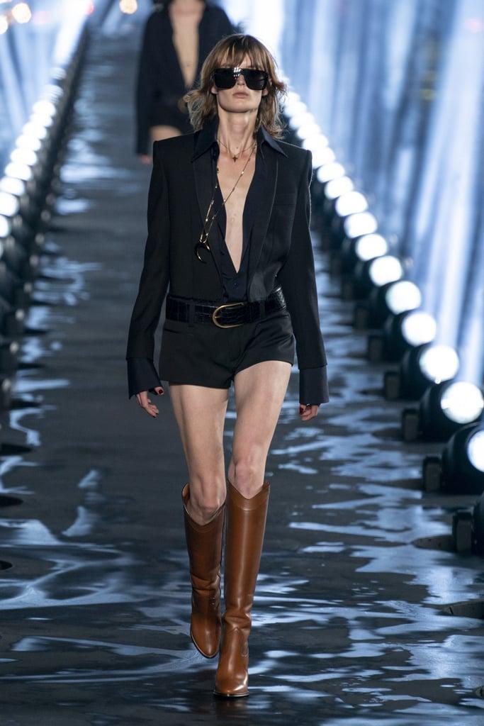 Naomi Campbell Closed Saint Laurent Spring 2020 Show