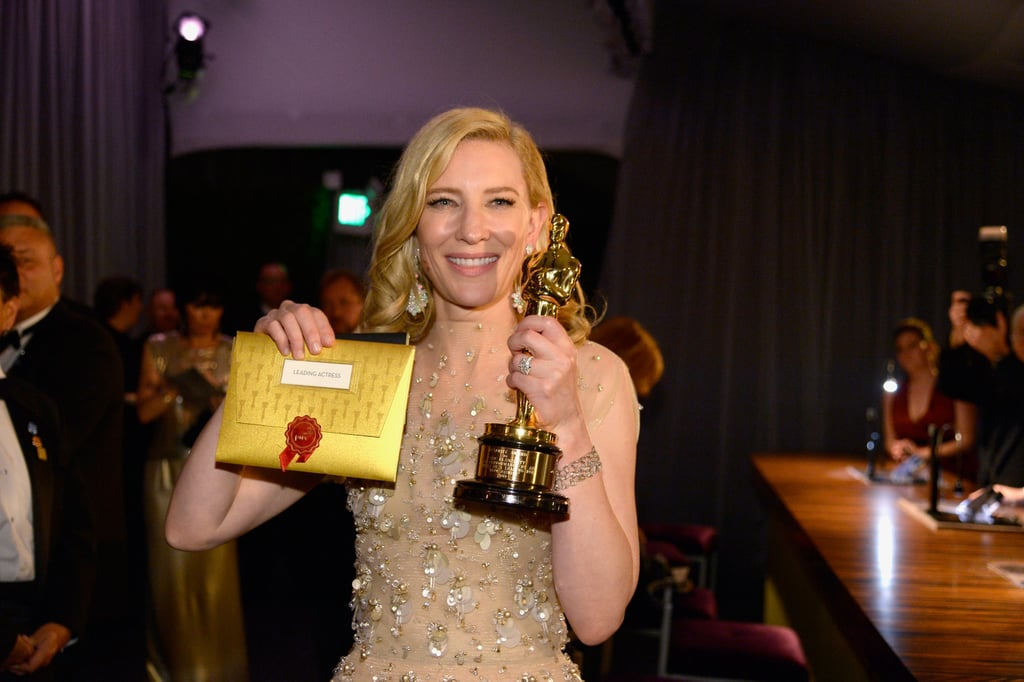 Cate showed off her card and award.