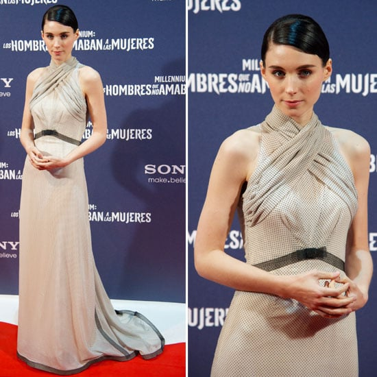 Pictures of Rooney Mara in Rodarte Gown at the Madrid Premiere of The Girl with the Dragon Tattoo: See it from All Angles