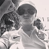 Beth Behrs showed off her USA jersey. Source: Instagram user therealbethbehrs