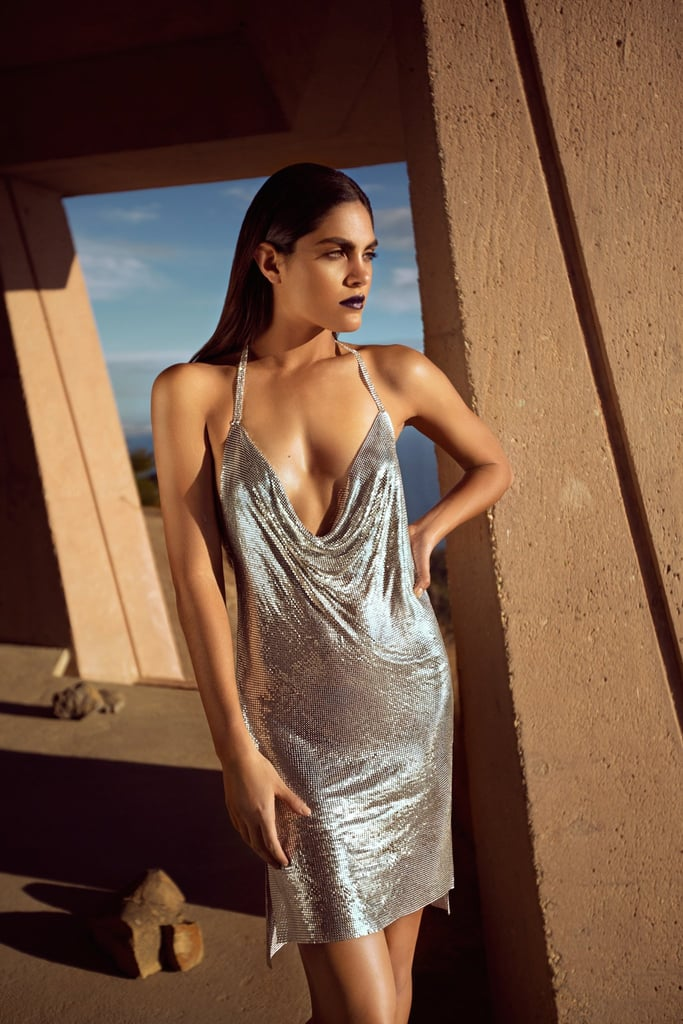 Shop the Kendall + Kylie Chainmail Halter Dress