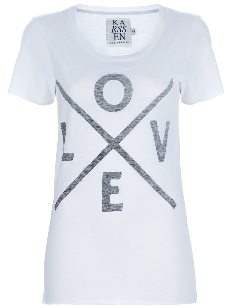 The key to a comfortable concert-going experience? Wear softer than soft tees. We're partial to cheeky prints and vintage-inspired graphics. Zoe Karssen Love T-Shirt ($91)
