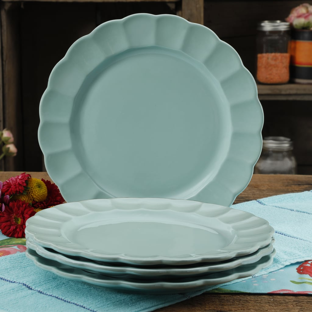 The Pioneer Woman Luster Teal 10.7-Inch Dinner Plates Set of Four & The Pioneer Woman Luster Teal 10.7-Inch Dinner Plates Set of Four ...