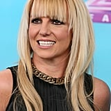 Britney Spears smiled for the cameras on the red carpet.