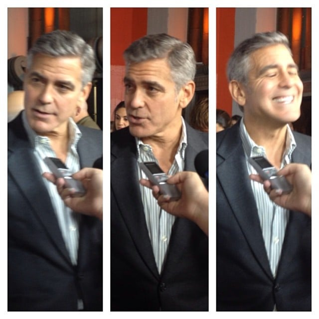George Clooney could probably charm a chair if he really wanted to. He's just that handsome.